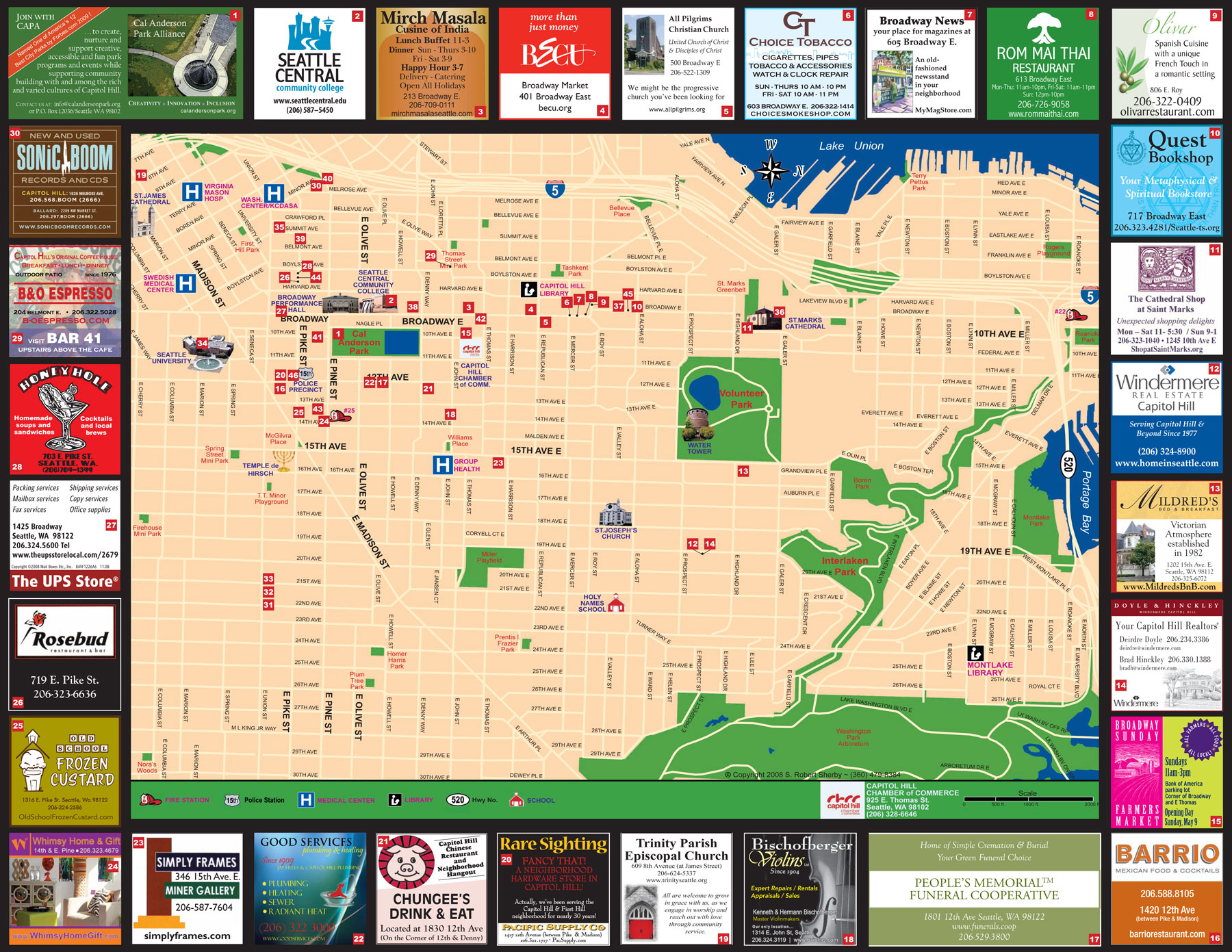 Capitol Hill Seattle City Map Seattle Map Downtown Inspiring World